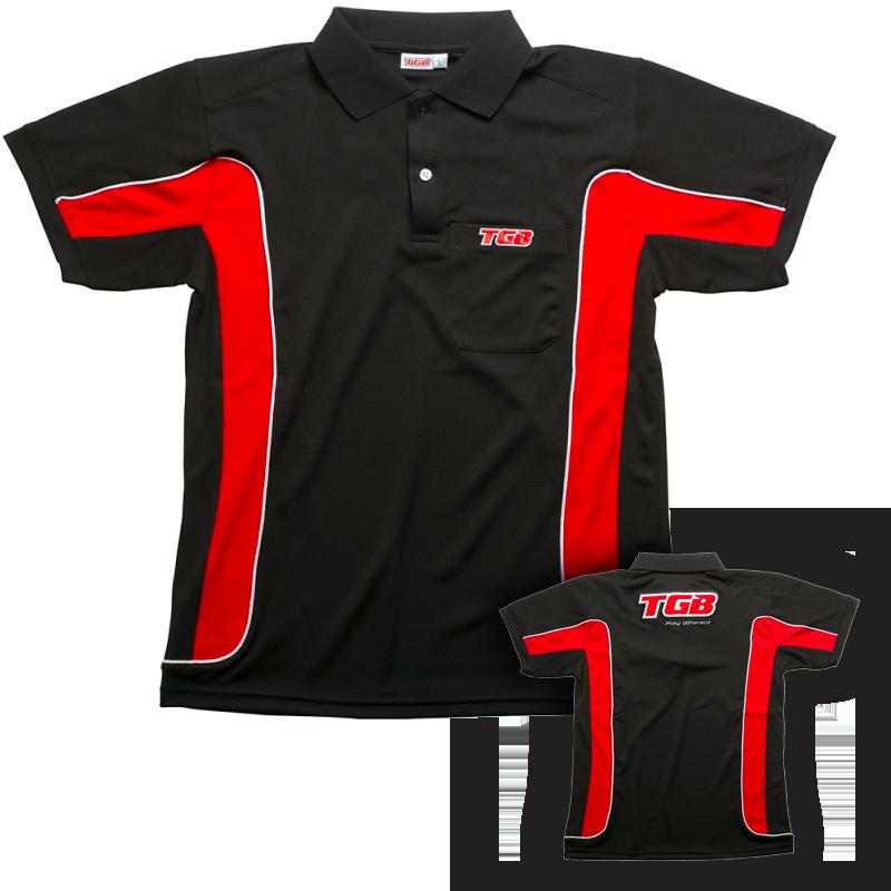 accessoire vetement polo rouge noir tgb taille s