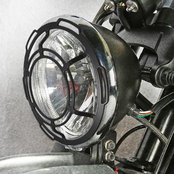 Accessoire grille phare moto scrambler