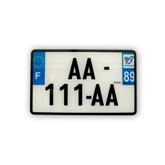 Accessoire 1 plaque immat.blanc 210x130mm