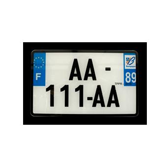 1 PLAQUE IMMAT.blanc 210X130mm